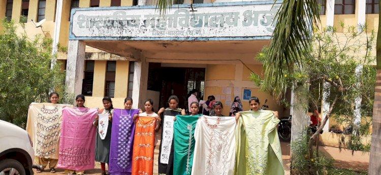 शासकीय महाविद्यालय अर्जुदा में विभिन्न राज्यों के 15 दिवसीय हस्त कढ़ाई कला कक्षा का आयोजन किया गया