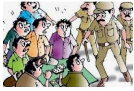 सट्टा जुआ अवैध शराब  करने वालों पर फिर लगा ग्रहण पुलिस की सख्त कार्यवाही पढ़िये पूरी खबर
