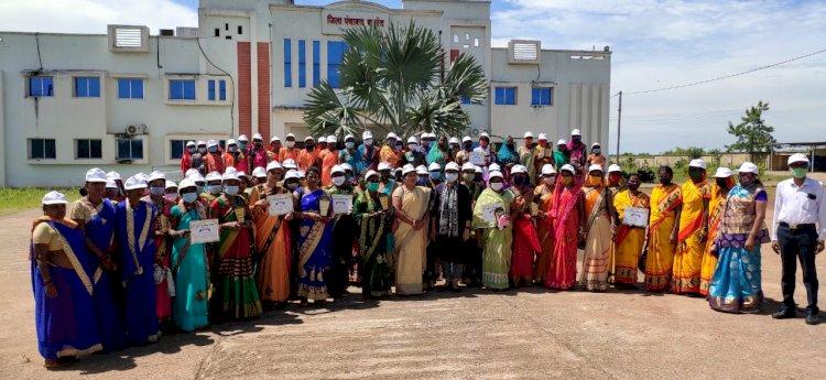 जिले के स्वछग्रही महिला समूह का किया गया सम्मान जिले को ODF के बाद ODF प्लस बनाने जिला सीओ ने  कही ये बात