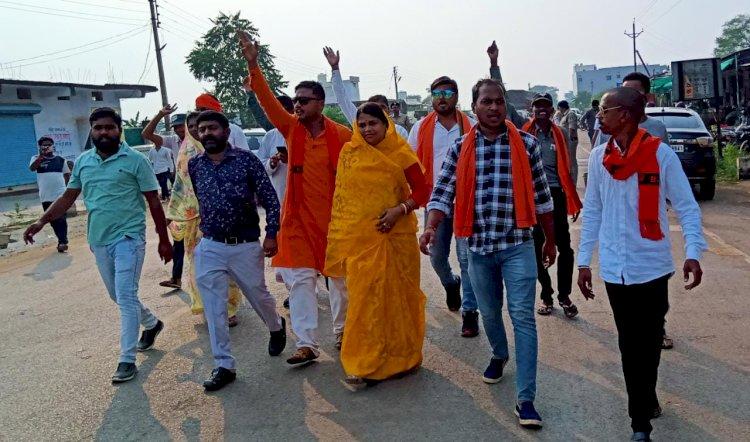 कवर्धा की घटना को लेकर भाजयुमो अर्जुन्दा ने मुख्यमंत्री और कैबिनेट मंत्री अकबर का फूंका पुतला