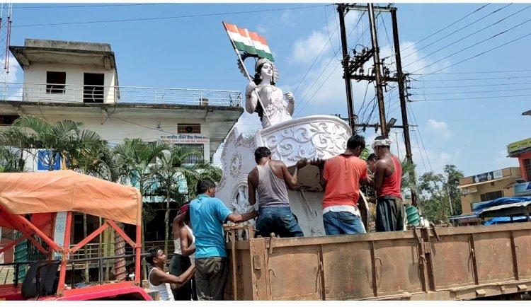 जीतू की जलसमाधि की जिद साथ ही ख़बरों का असर देखिये भारत माता की मूर्ति स्थानांतरित